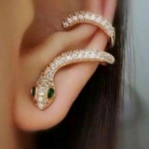 New Snake Earrings Ear Cuff Set Gold Filled